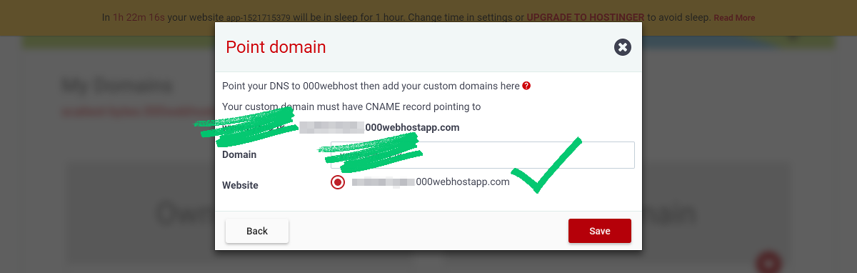 000webhost custom domain